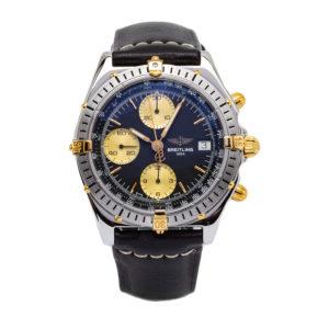 Breitling Chronomat / Crosswind 18kt Yellow Gold/SS W/Blue Dial - B13048 Dial