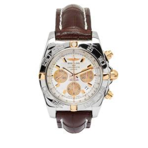Breitling B01 Chronomat 44mm Steel & Rose Gold Case w/Silver Dial - IB0110 Dial