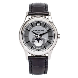 Patek Philippe Annual Calendar Moon Phase In 18kt White Gold - 5205G Dial