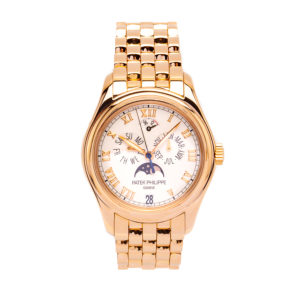 Patek Philippe Annual Calendar Moon Phase w/Power Reserve In 18kt Rose Gold - 5036/1R Dial