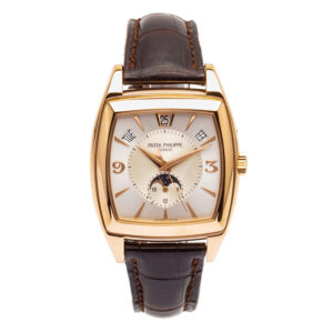 Patek Philippe Gondolo 38.5mm 18kt Rose Gold Case w/Moonphase Arabic Ivory Dial - 5135R Dial