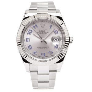 Rolex Datejust 2 Stainless Steel 41mm Case w/Arabic Lilac Dial - 116334 Dial