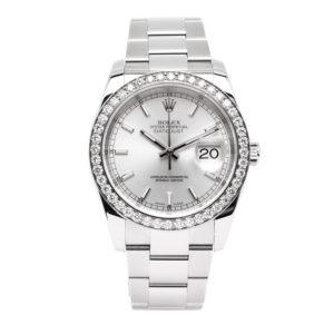 Rolex Datejust Stainless Steel Slate Dial w/ 3.0ct Diamond Bezel - 116234 Dial