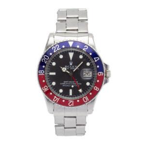 "Rolex GMT-Master ""Pepsi"" Steel Rivet Bracelet Original Papers - 1675 Dial"