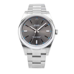 Rolex Oyster Perpetual Date 39 Stainless Steel Slate Dial - 114300 Dial