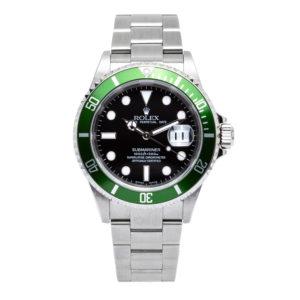 "Rolex Submariner Date 50th Anniversary ""Kermit"" 40mm Green Bezel - 16610V Dial"