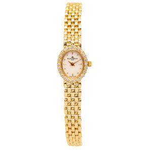 Baume & Mercier Ladies Geneve 14kt Yellow Gold & .50ct Diamond Bezel - MX000M1J Dial