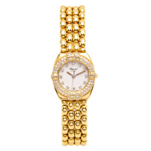 Chopard Gstaad 18kt Yellow Gold 24mm Case w/Diamond Bezel & Hour Markers - 5229 Dial