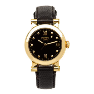 Vintage Ladies Movado 30mm 18kt Yellow Gold Case w/Leather Strap - 40.65.868 Dial