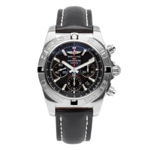 Breitling Chronomat 44 Flying Fish Stainless Steel w/Black Leather Strap - AB011010 Dial